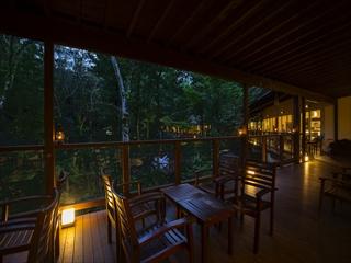 テラス席はどなたでもご利用いただける無料休憩スペースになっております。温泉ご入浴後に夕涼みしてみてはいかがですか・・・。