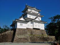 3重4階の天守櫓に付櫓、渡櫓を付した複合式天守閣で、地上38.7mです。